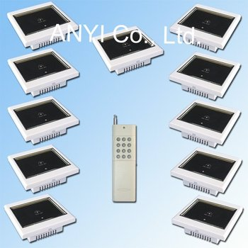 ABS Fireproof Material,AC100~250 Volt 1 Gang Wireless Remote Control Switch,Touch Wall Light Smart Home Control System