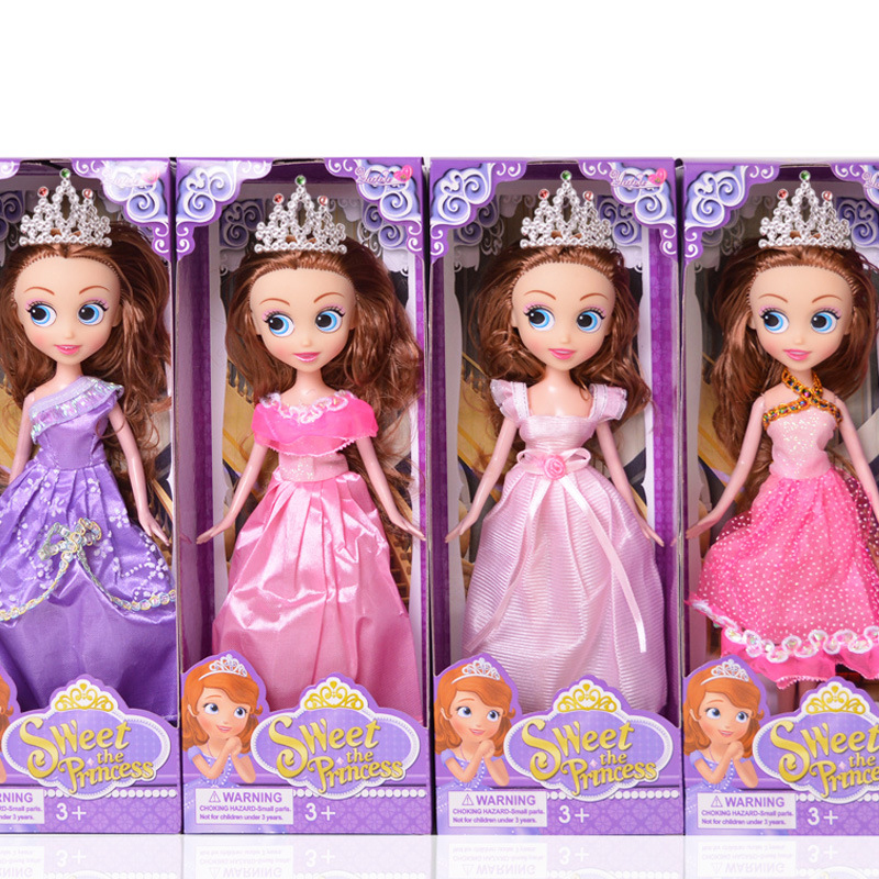 Dress Up Princess Sofia simulation big eyes doll girl toy best Gift for Girls birthday(China (Mainland))