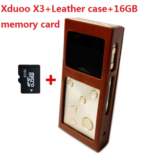 With leather case+real 16GB memory card, XDUOO X3 HIFI MP3 digital Music Player lossless DSD music player,Authorize Agent(China (Mainland))