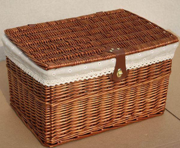 Popular storage boxes lids buy cheap storage boxes lids - Canastas de mimbre decoradas ...
