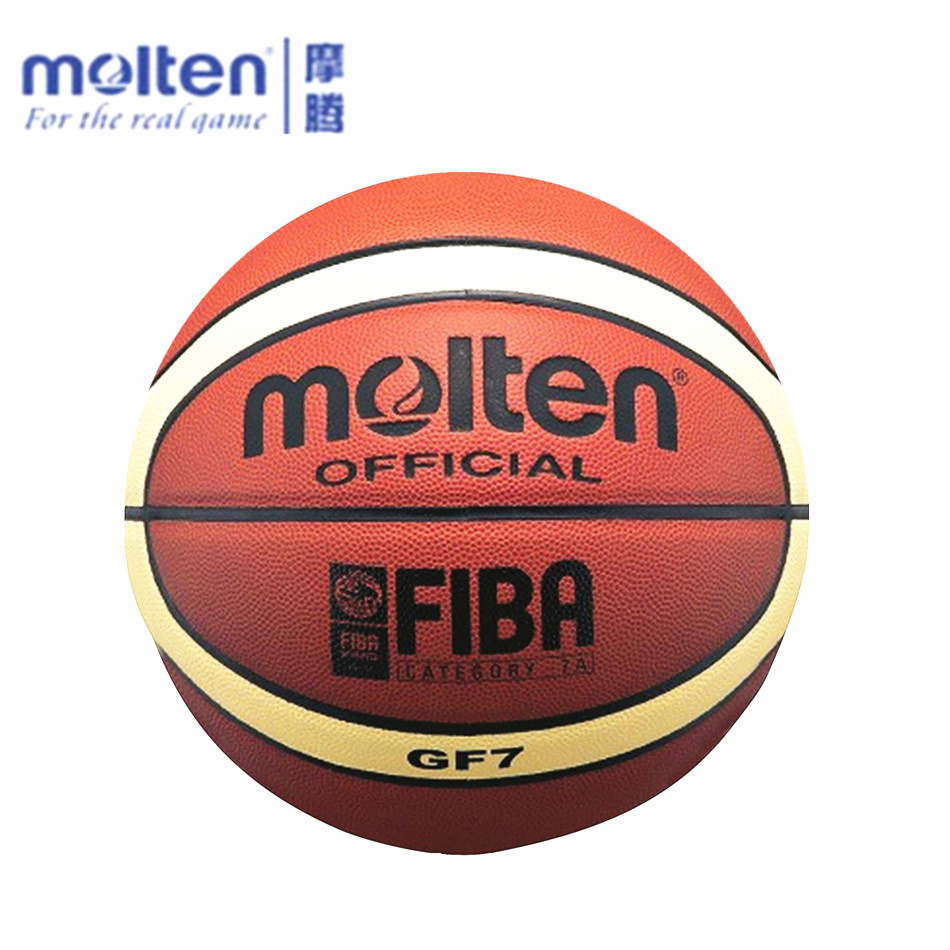 Free Shipping Offical Molten Basketball GF7 Size 7 PU Basketball Ball Outdoor Indoor Training Ballon Free With Pump+Net bag+ Pin(China (Mainland))