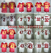 New Authentic USC Trojans College Football 43 Troy Polamalu Jerseys 2 Robert Woods 6 Mark Sanchez 32 OJ Simpson 7 Matt Barkley 3(China (Mainland))