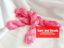 Buy 1U Pick! ! 1.5mm Chinese Knot Nylon Shamballa Macrame Thread Cord Wire Beading Bracelet 20YDs Pink Free for $2.80 in AliExpress store