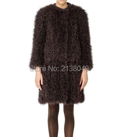 Fc04001 подлинные качества зима теплая шкурку овцы кожа вьющиеся агнец шубы