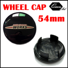 4 X BLACK MINI JOHN WORKS 54MM WHEEL Hub Center Cap for MINI Countryman Paceman Clubman Coupe JCW Roadster #SO2102(China (Mainland))