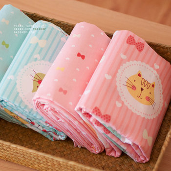 40*50CM Cat & Bow Twill Printed Cotton Fabric Telas DIY Patchwork Sewing Baby Clothing Toy Material Quilting Bedding Cloth