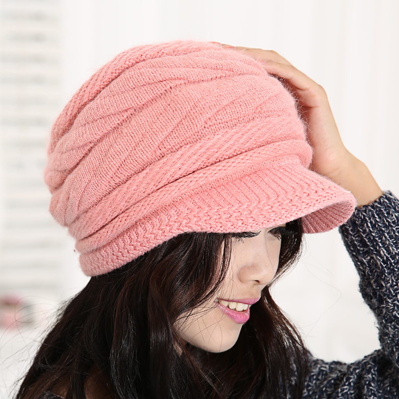 Rabbit fur hat female winter autumn and winter thermal women's hat female knitted hat fashion cap(China (Mainland))