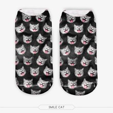 20 Colors You can choose 3D Print Animal women Socks Casual cartoon Socks Unisex Low Cut