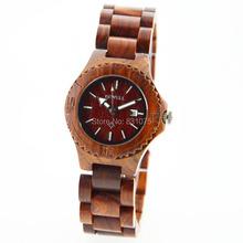 Recién llegado de japón relojes de pulsera de cuarzo con miyota 2115 movimiento relojes de madera para mujeres mejores regalos para la novia en caja de regalo