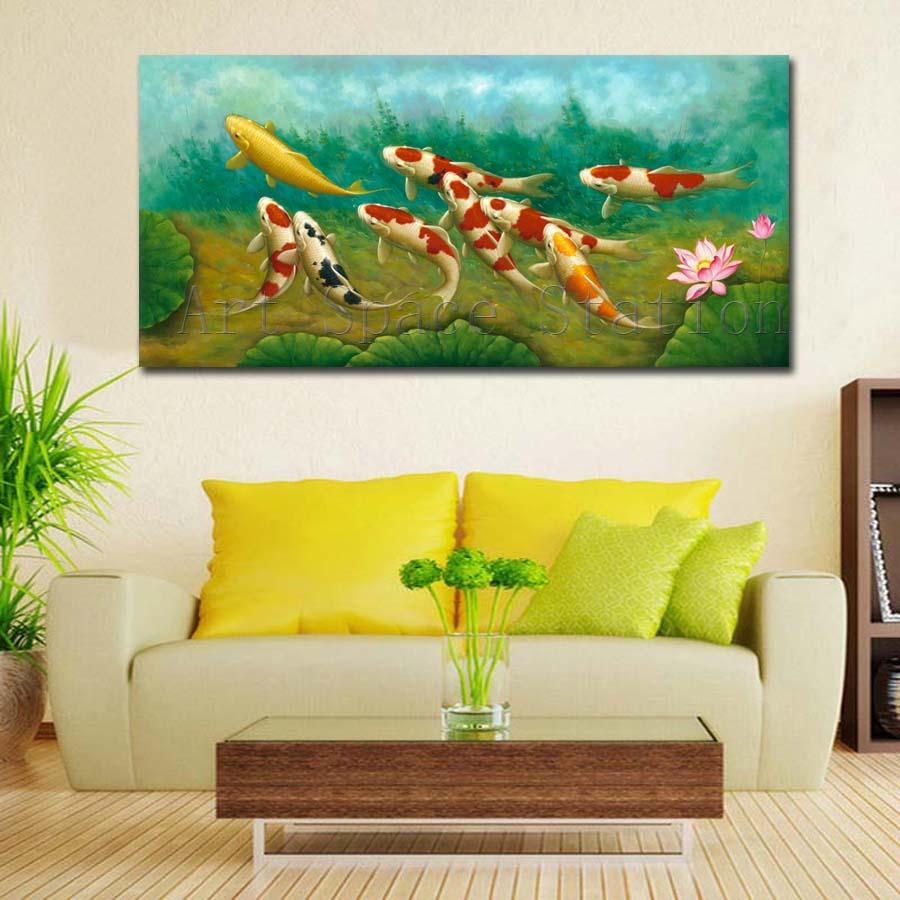 online kaufen gro handel koi fischmalerei aus china koi fischmalerei gro h ndler. Black Bedroom Furniture Sets. Home Design Ideas