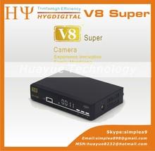 New DVB-S2 Set Top box 1080p hd decoder digital Satellite receiver V8 Super Support Wifi Dongle