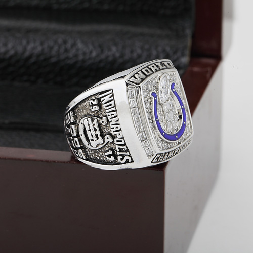 Solid 2006 INDIANAPOLIS COLTS  Super Bowl Football Championship Ring Size 10-13 With High Quality Wooden Box Best Fans Gift<br><br>Aliexpress