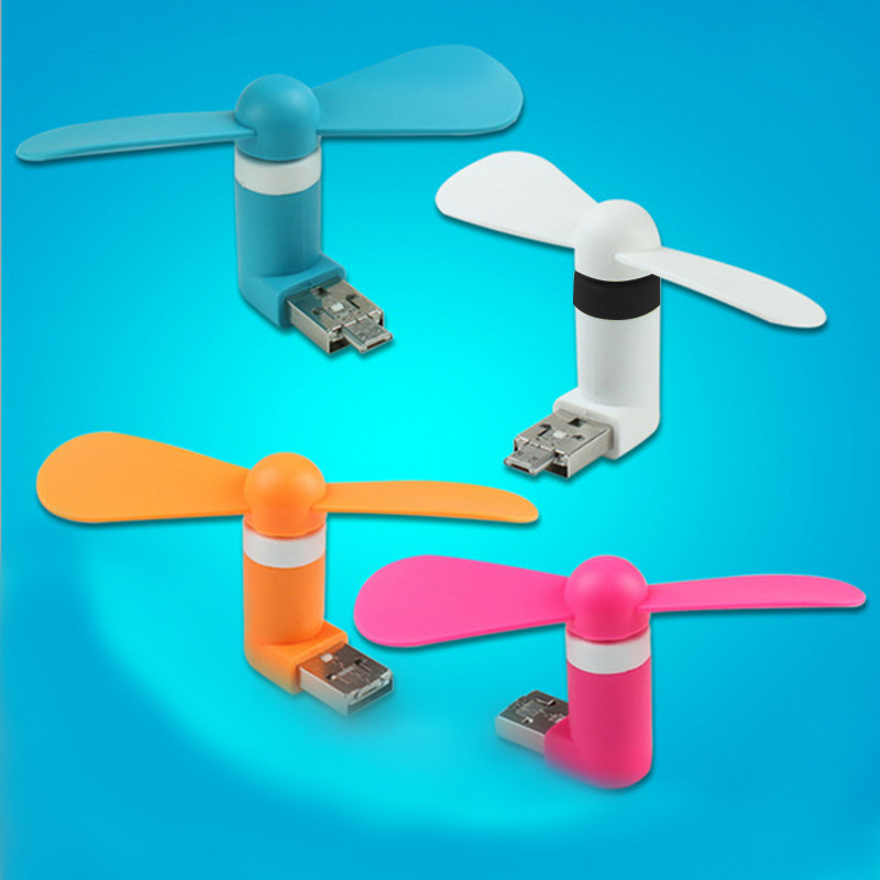 Travel Mini USB Gadget Portable Summer Micro USB Cooling Fan Mini Fan Universal For Xiaomi Android OTG Phones Power Bank Laptop(China (Mainland))