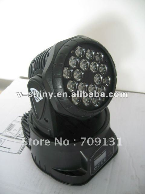 Free Shipping RGB 18PCS * 3W LED Mini Moving Head