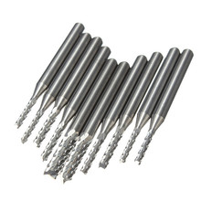 10pcs Carbide 1 5mm 3 175mm End Mill Engraving Bits CNC Rotary Burrs
