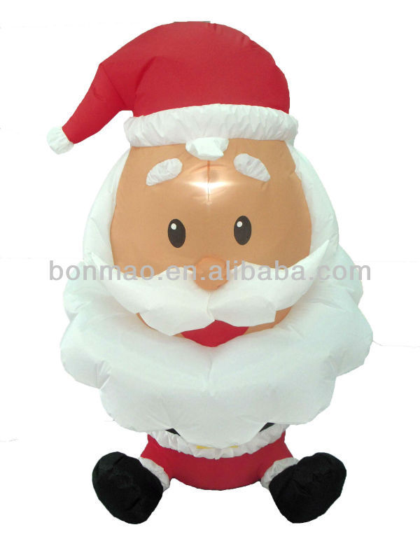 4 foot high inflatable santa claus with big head in for 4 ft santa claus decoration