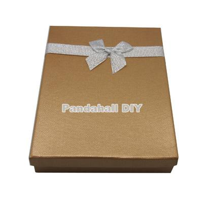 Valentines Day Gifts Packages Bowknot Cardboard Jewelry Boxes, Rectangle, Peru, Size: about 210mm long, 153mm wide, 37mm high(China (Mainland))