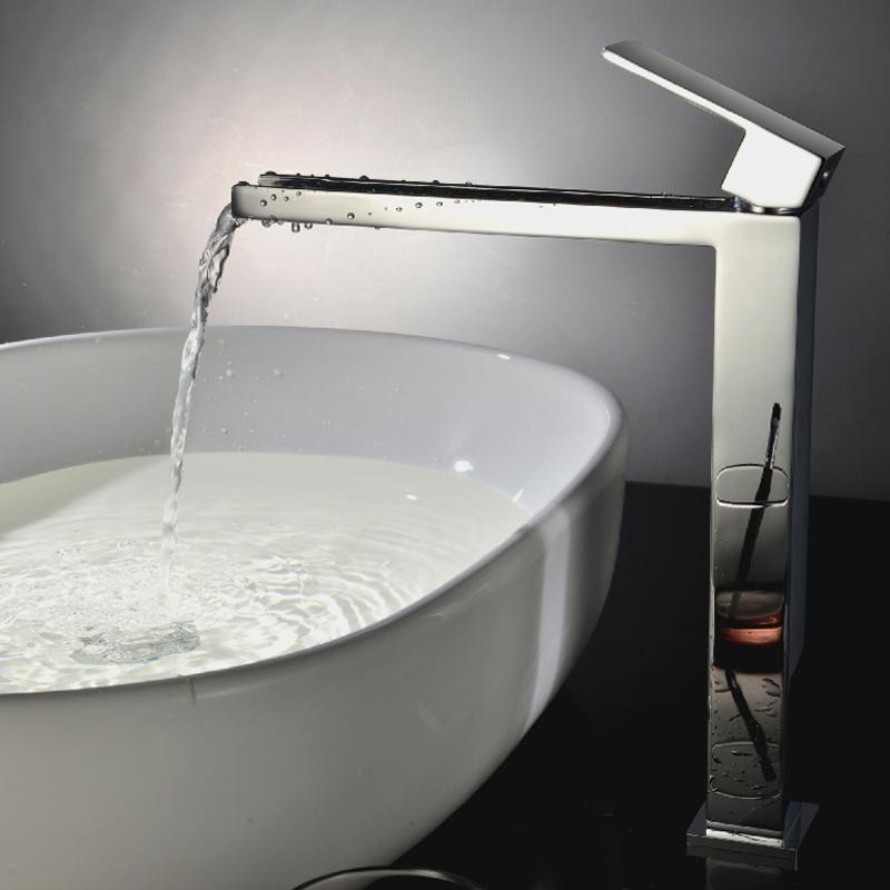 Фотография Bathroom Sink Faucet Waterfall Faucet Taps Waterfalls Water Tap Bathroom Basin Mixer LE-1299H