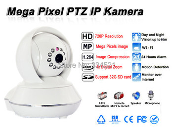 [Ship from DE]720P P2P HD Wireless Indoor IP Camera with IR-Cut WIFI Network Security Camera Night Vision PTZ 4X digital ZOOM