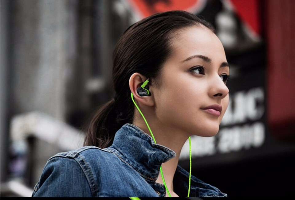 High Quality  Earphone Sport Stereo 3.5mm Headphones Headset with Mircophone For iPhone All Mobile Phones Mp3 fone de ouvido