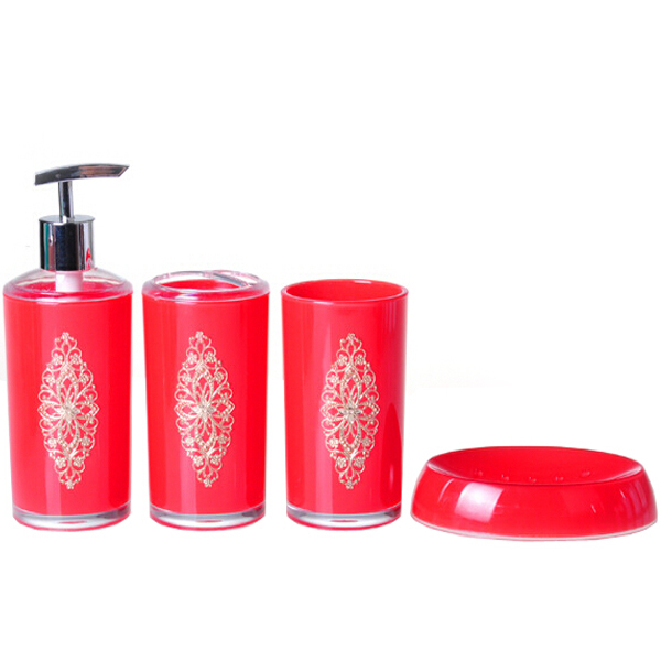Luxury bathroom collection set with iron flower bathroom for Full bathroom accessories set