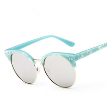 2016 Pontos de Marca designer Rodada Óculos De Sol Das Mulheres Oculos UV400 óculos de sol moda Feminina óculos shades esportes ao ar livre das Mulheres