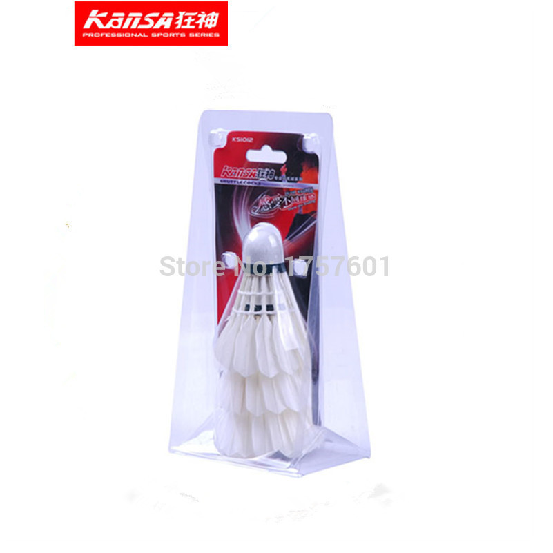 Hot selling Chinese Olympic team co-brand KANSA1012 Good Flight Durability Goose Feather Shuttlecocks! Free Shipping!(China (Mainland))