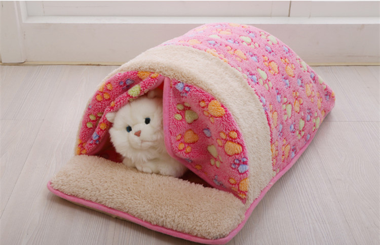 2016 Cute Cats Dogs House 2.5-4KG Pet Favor Sleep Mat Washable Soft Pets Mats Kennel With Curtain 3 Color Select Dog Beds(China (Mainland))
