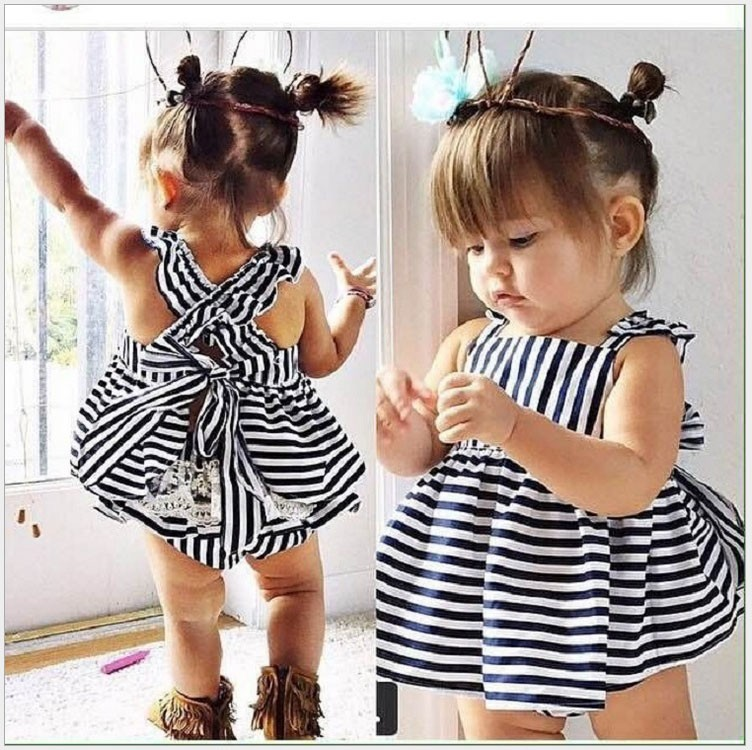 Summer New Fashion Baby Clothes 2pcs Set Cotton Tutu Dress Newborn Baby Birthday Gift Set Bebe Girl Tracksuit Baby Outfit