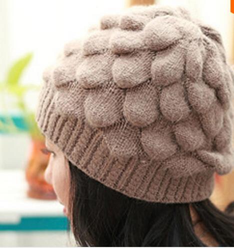 2015 Winter Hats For Women Bone Touca Warm Twist Knitted Hat Fashion Beanies Women Winter Cap Lady Wool Acrylic Hat Gorro(China (Mainland))