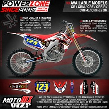 Customized Graphics Backgrounds 3M Stickers Asterisk Decals CR CRF 250 450 CR250F R X CR450F Motorcycle Racing Enduro - PowerZone Co.,Ltd store