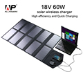 ALLPOWERS Folding Portable Solar Charger 60W Dual Output Ports Solar Panel Laptop Charger Solar Tablet Charger