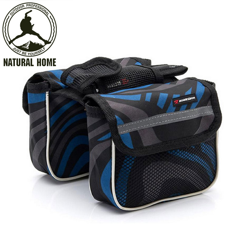 [NaturalHome] Brand Racing MTB Bicycle Bike Bag Front Frame Tube Double Side Bag Bicycle Cycling Pannier Pouch Bike Bags(China (Mainland))