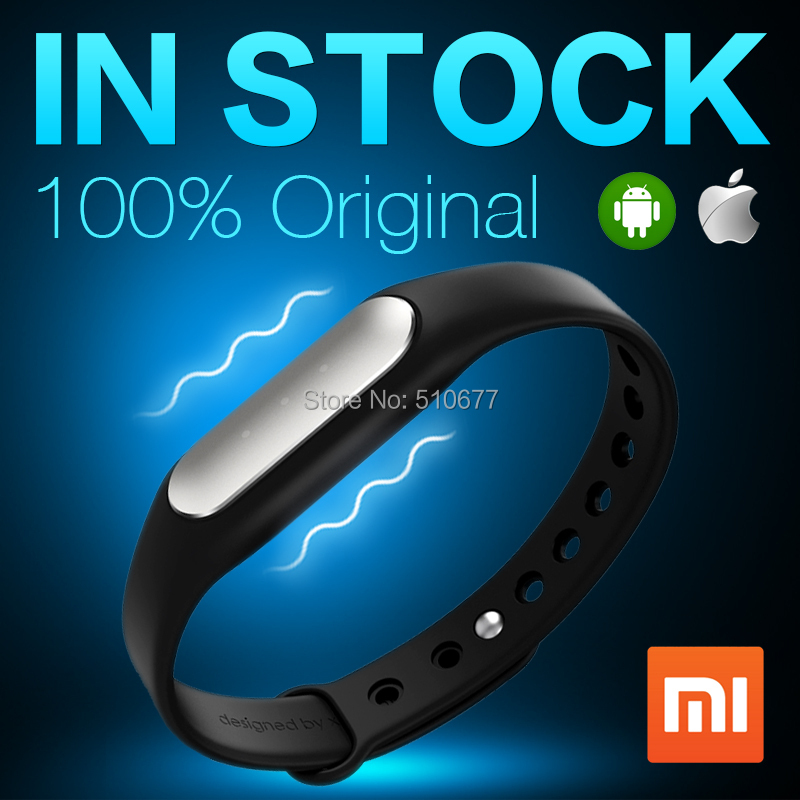 IN STOCK 100% Original Xiaomi Mi Band Smart Miband Bracelet For Android 4.4 IOS 7.0 MI3 M4 Waterproof Tracker Fitness Wristbands(China (Mainland))