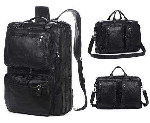 Multi-Function Genuine Leather Backpack School Bag Men's Backpack Men Travel Backpack Leather rucksack Big Black Shoulder Bag(China (Mainland))