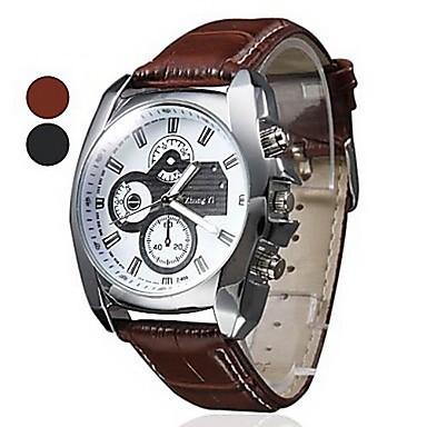 Человек часы часы вилочная часть циферблат свободного покроя кожа аналоговый кварцевый час свободного покроя наручные часы