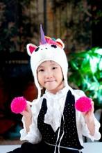 Fashion Lovely Cartoon Hat Warm Knitted Winter Cap Headwears Unicorn for Children Kids Wholesale Retail(China (Mainland))
