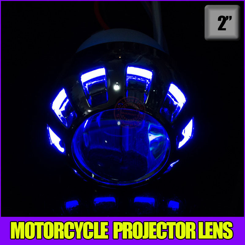 High quality ! Motorcyle Projector lens with hid xenon lights, CCFL angel eyes and demon eyes for headlight(China (Mainland))