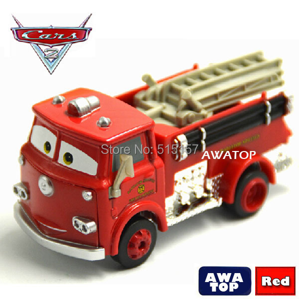Brand new cars pixar 2 Red fire truck diecast metal toy car New In Box kids toys for children without retail box(China (Mainland))