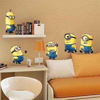 ... Minions Movie Wall Stickers For Kids Room Home Decorations 1404. Diy  Pvc Cartoon Decals Children ...