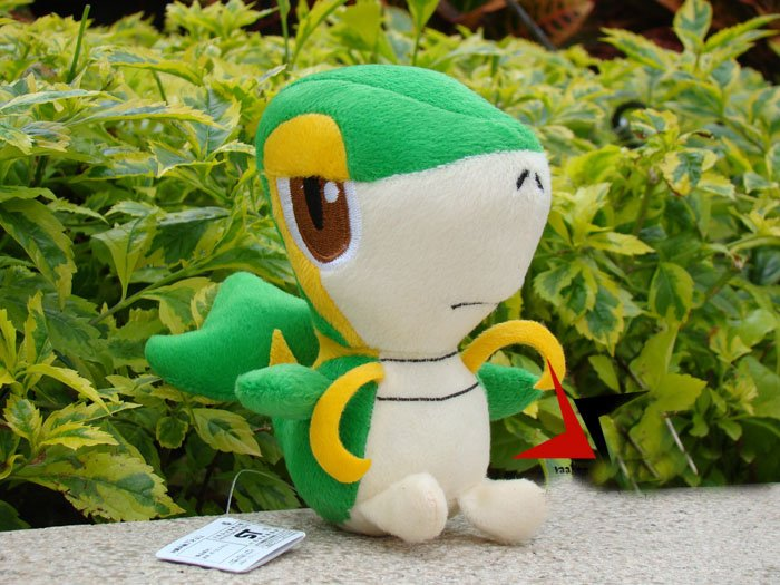 Snivy soft toy The snake plush toys snake very cute factory supply 5pcs/lot freeshipping(China (Mainland))