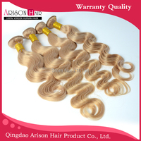 Modern Honey Blonde Brazilian Hair 7A High Quality Hair Extensions 4Pcs Lot color 27 Brazilian Hair Weave