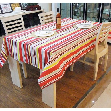 Quality stripe cloth 100% cotton canvas table cloth tablecloth 100*145cm(China (Mainland))