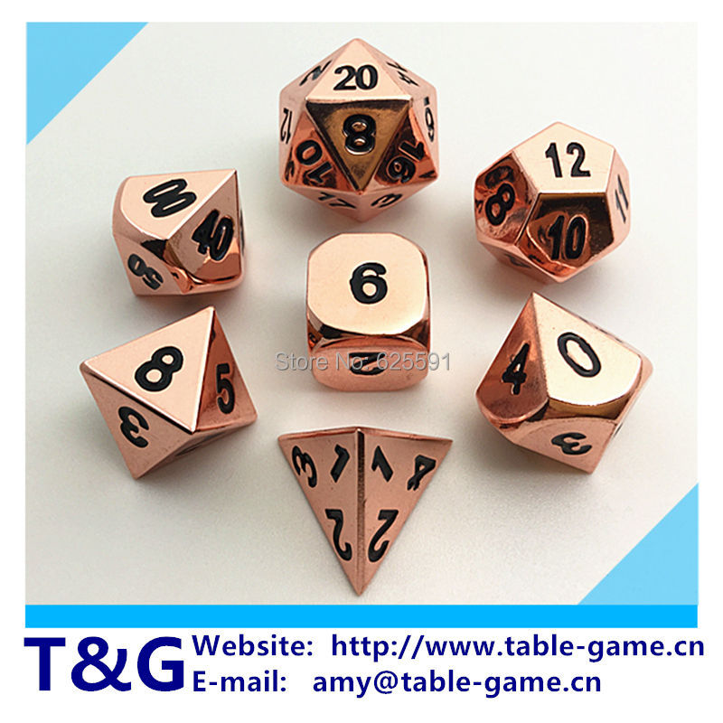 7pc/set Metal Dice Set d4 d6 d8 d10 d% d12 d20 RPG dice with Boxes jogo entretenimento roll Poly Dice with Boxes High Quality  <br><br>Aliexpress