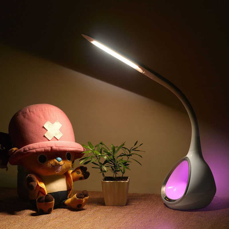 2016 new hot sale night light reading light LED desk lamp with magic colorful RGB LED Bulbs Table lamp lamparas de mesa MSL-T5(China (Mainland))