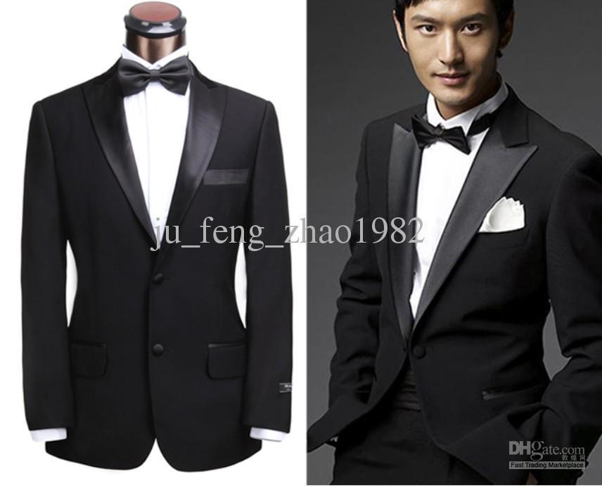 wholesale classic black suit groom tuxedos 2014 mens