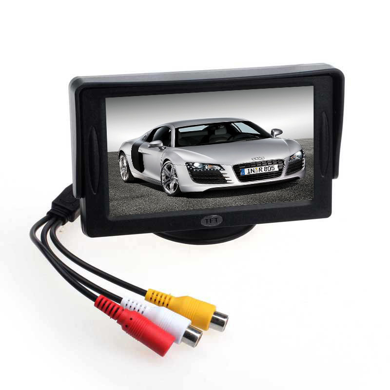 Scolour Car 4.3' TFT LCD Color Rearview Monitor for DVD GPS Reverse Backup Camera(China (Mainland))