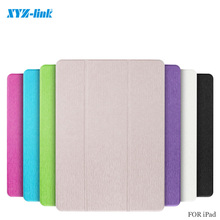 Ultra Slim Tri-Fold PU Leather with Crystal Hard Back Smart Stand Case Cover for ios Pad /mini 1/2/3/4 /Air /Air 2 Bright Colors(China (Mainland))