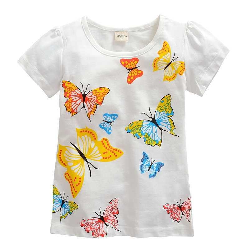 1-10 years Girls T-shirt girl brand t shirt Little big girl Cartoon short sleeve Tees baby Tshirt Children summer Shirts Cotton(China (Mainland))