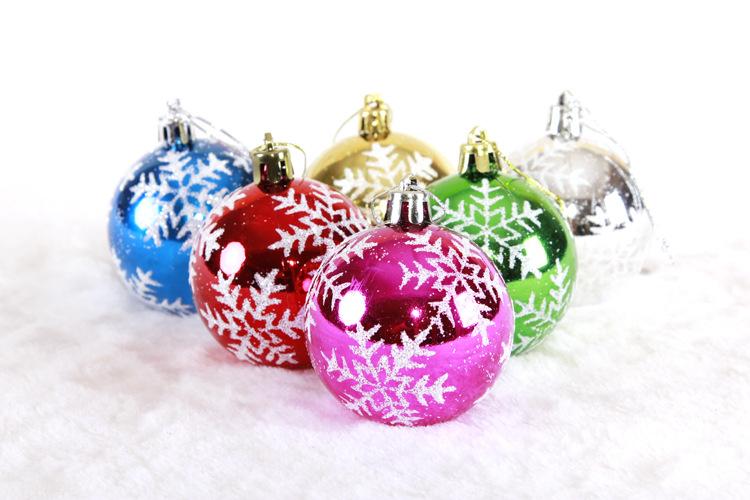 5pcs/lot Christmas Ornament Plastic Christmas Snowflake Balls Ball Christmas ...